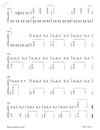 時を刻む唄-CLANNAD 〜AFTER STORY〜OP両手略譜プレビュー3