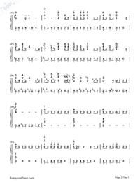いのちの名前-千と千尋の神隠しテーマソング両手略譜プレビュー2