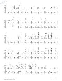 いのちの名前-千と千尋の神隠しテーマソング両手略譜プレビュー4