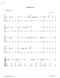 Chandelier-Sia-Numbered-Musical-Notation-Preview-1