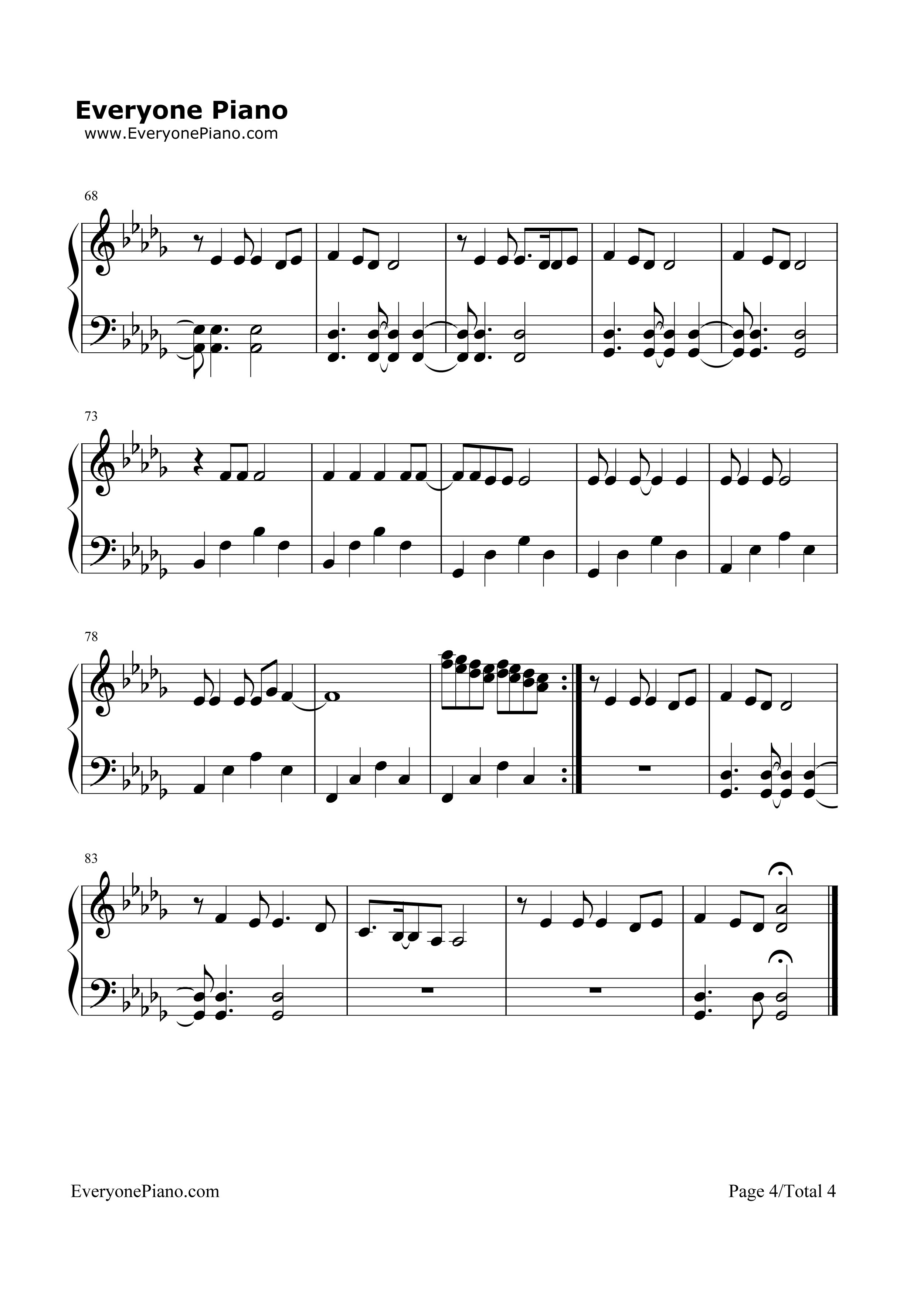 Chandelier-Sia Stave Preview 4-Free Piano Sheet Music u0026 Piano Chords