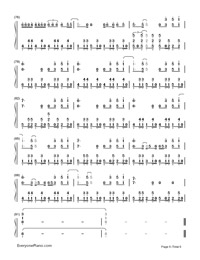 Bailando-Enrique Iglesias Numbered Musical Notation Preview 6