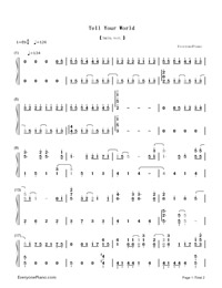 Tell Your World-Hatsune Miku-Numbered-Musical-Notation-Preview-1