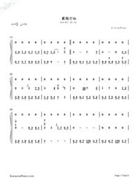 素敵だね-ファイナルファンタジーX主題歌両手略譜プレビュー1