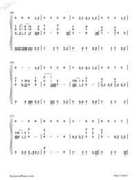 素敵だね-ファイナルファンタジーX主題歌両手略譜プレビュー3
