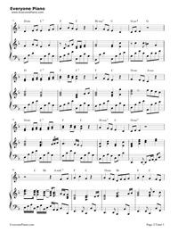 素敵だね-ファイナルファンタジーX主題歌五線譜プレビュー2