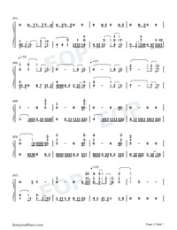 Afire Love-Ed Sheeran Numbered Musical Notation Preview 3
