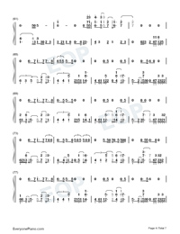 Afire Love-Ed Sheeran-Numbered-Musical-Notation-Preview-4