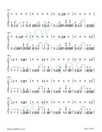 Afire Love-Ed Sheeran-Numbered-Musical-Notation-Preview-5