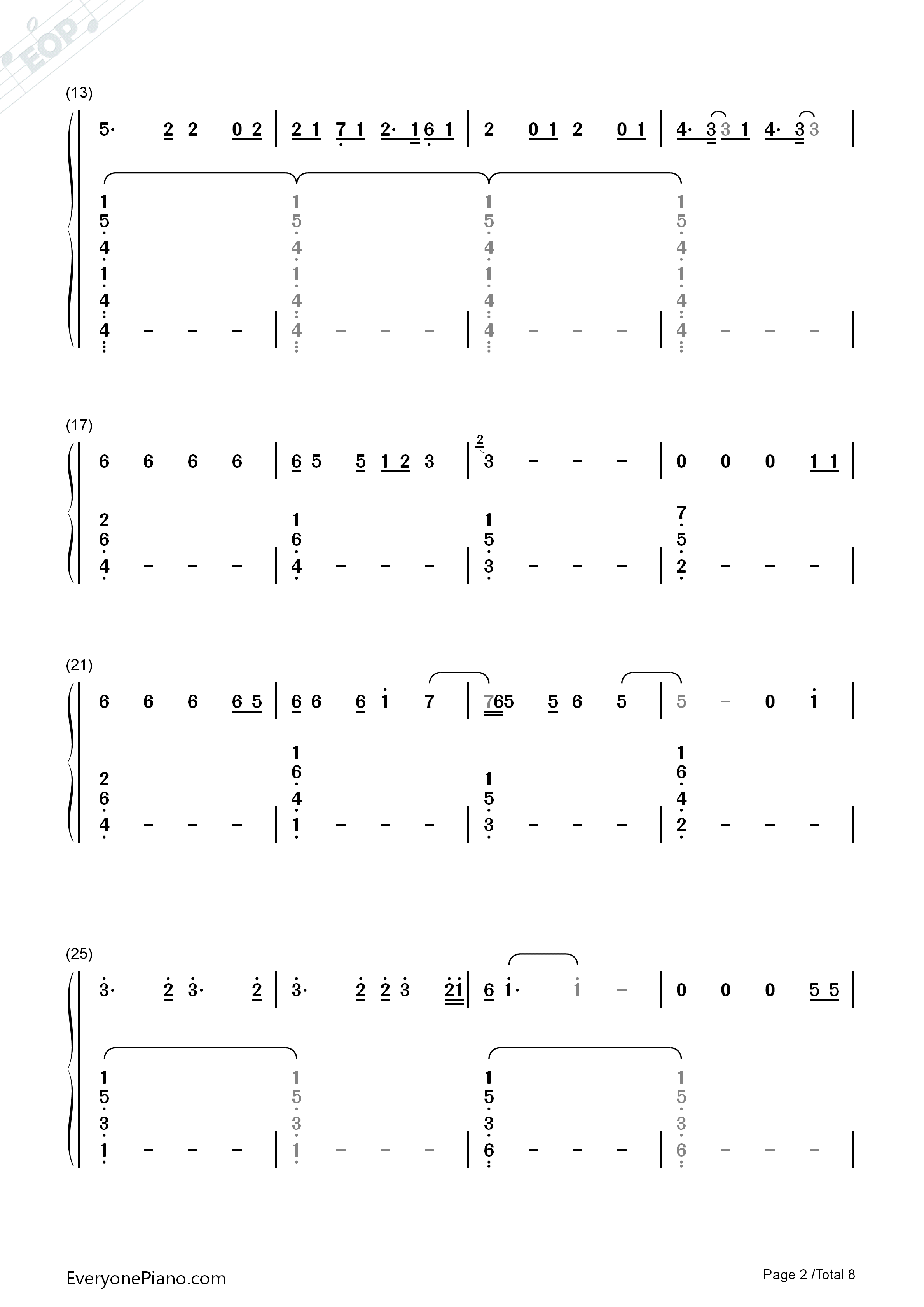 Lay me down sam smith numbered musical notation preview 2 free listen now print sheet lay me down sam smith numbered musical notation preview 2 hexwebz Images