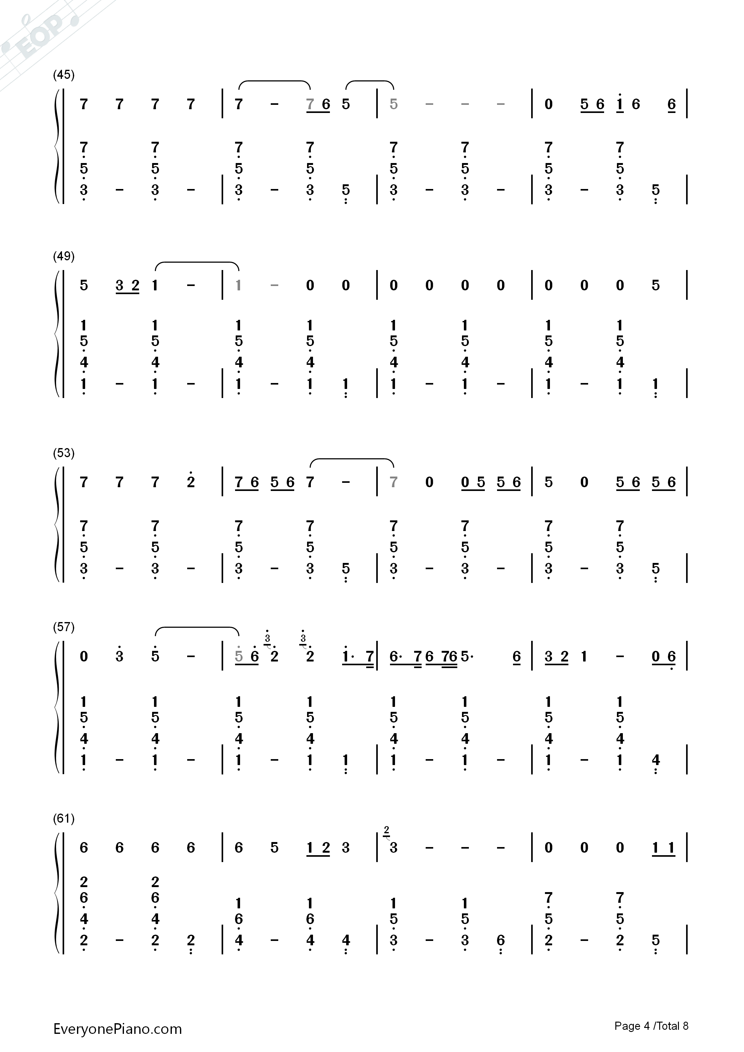 Lay me down sam smith numbered musical notation preview 4 free listen now print sheet lay me down sam smith numbered musical notation preview 4 hexwebz Images