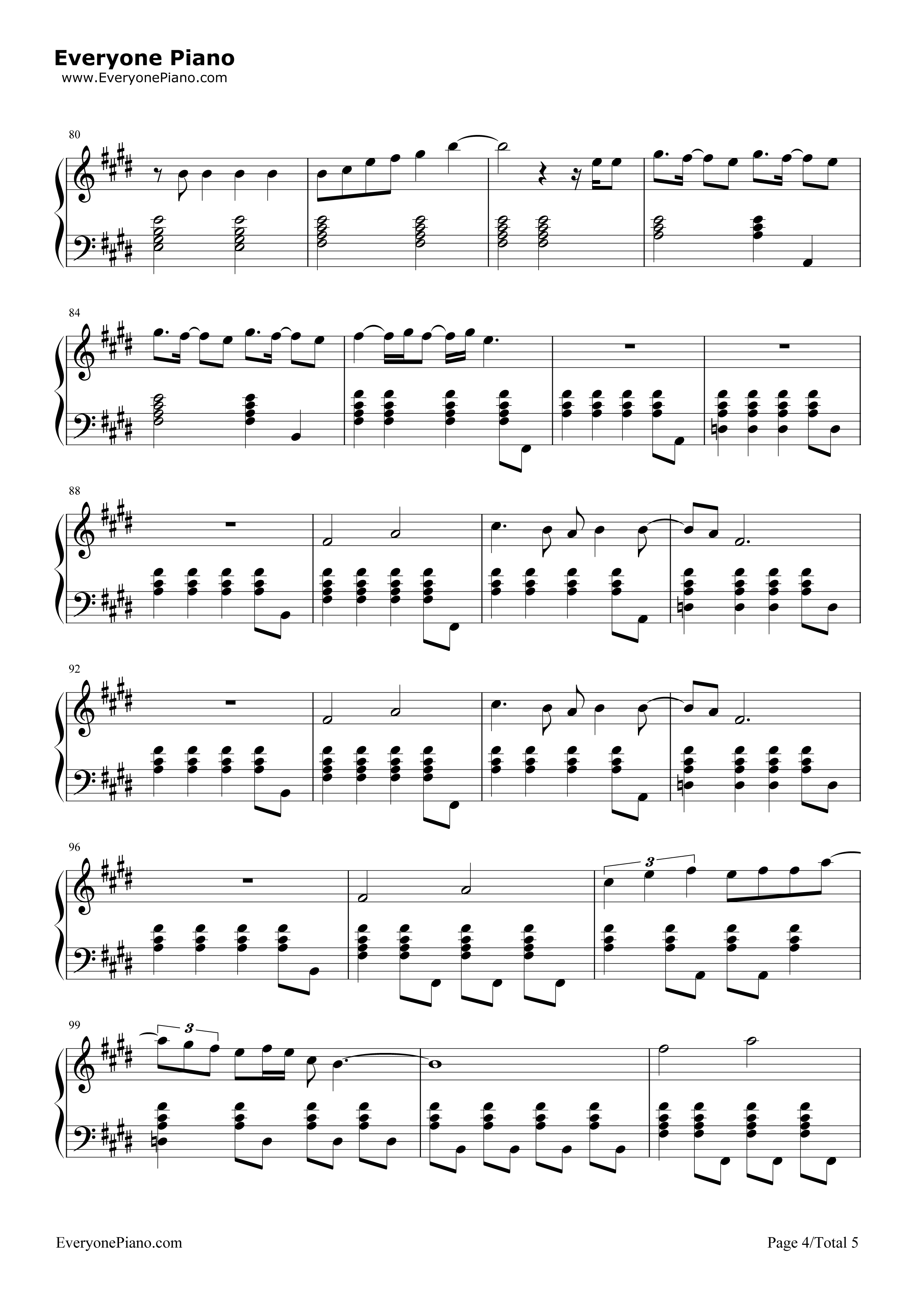 Lay Me Down-Sam Smith Stave Preview 4-Free Piano Sheet Music u0026 Piano Chords