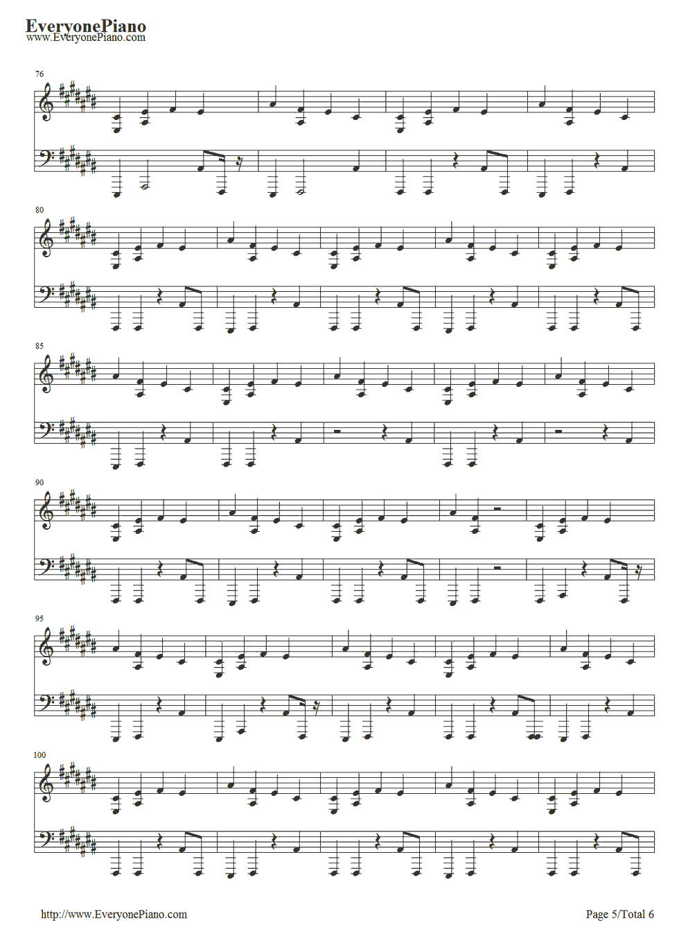 lil wayne how to love piano sheet music