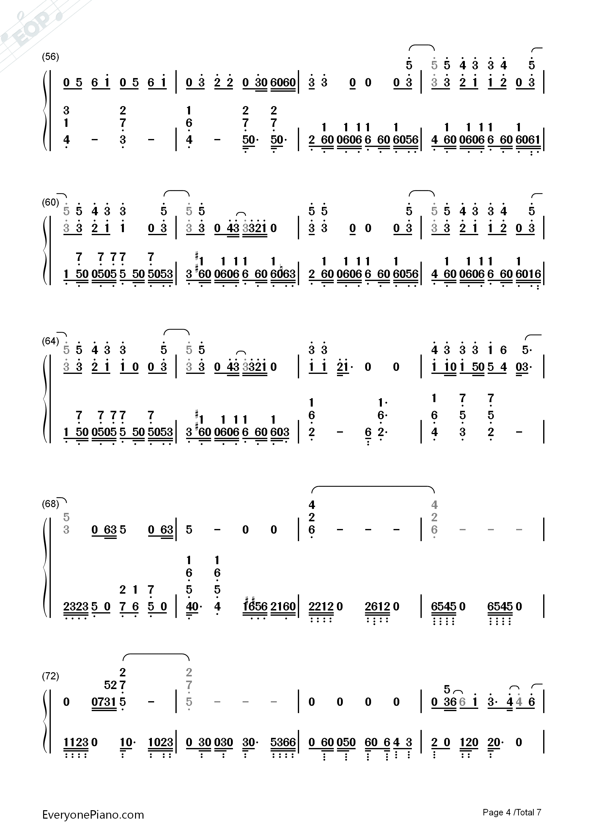 Love Never Felt So Good-Michael Jackson Numbered Musical Notation Preview 4