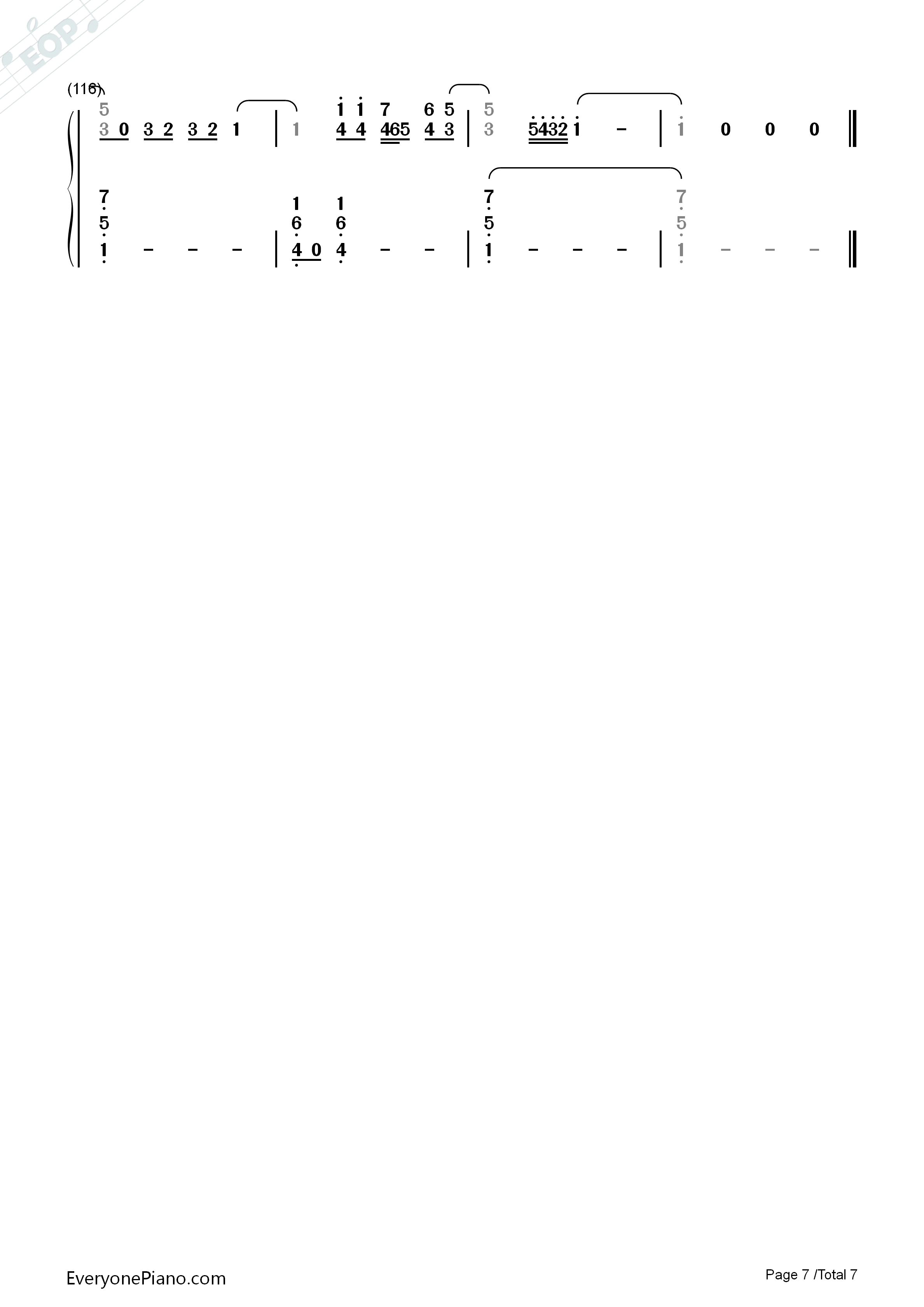 Love Never Felt So Good-Michael Jackson Numbered Musical Notation Preview 7