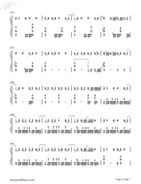 Love Never Felt So Good-Michael Jackson Numbered Musical Notation Preview 2