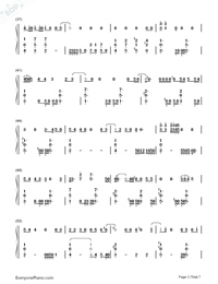 Love Never Felt So Good-Michael Jackson Numbered Musical Notation Preview 3