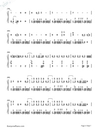 Love Never Felt So Good-Michael Jackson Numbered Musical Notation Preview 5