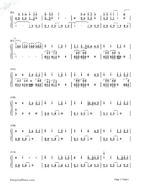 Latch-Disclosure&Sam Smith Numbered Musical Notation Preview 5