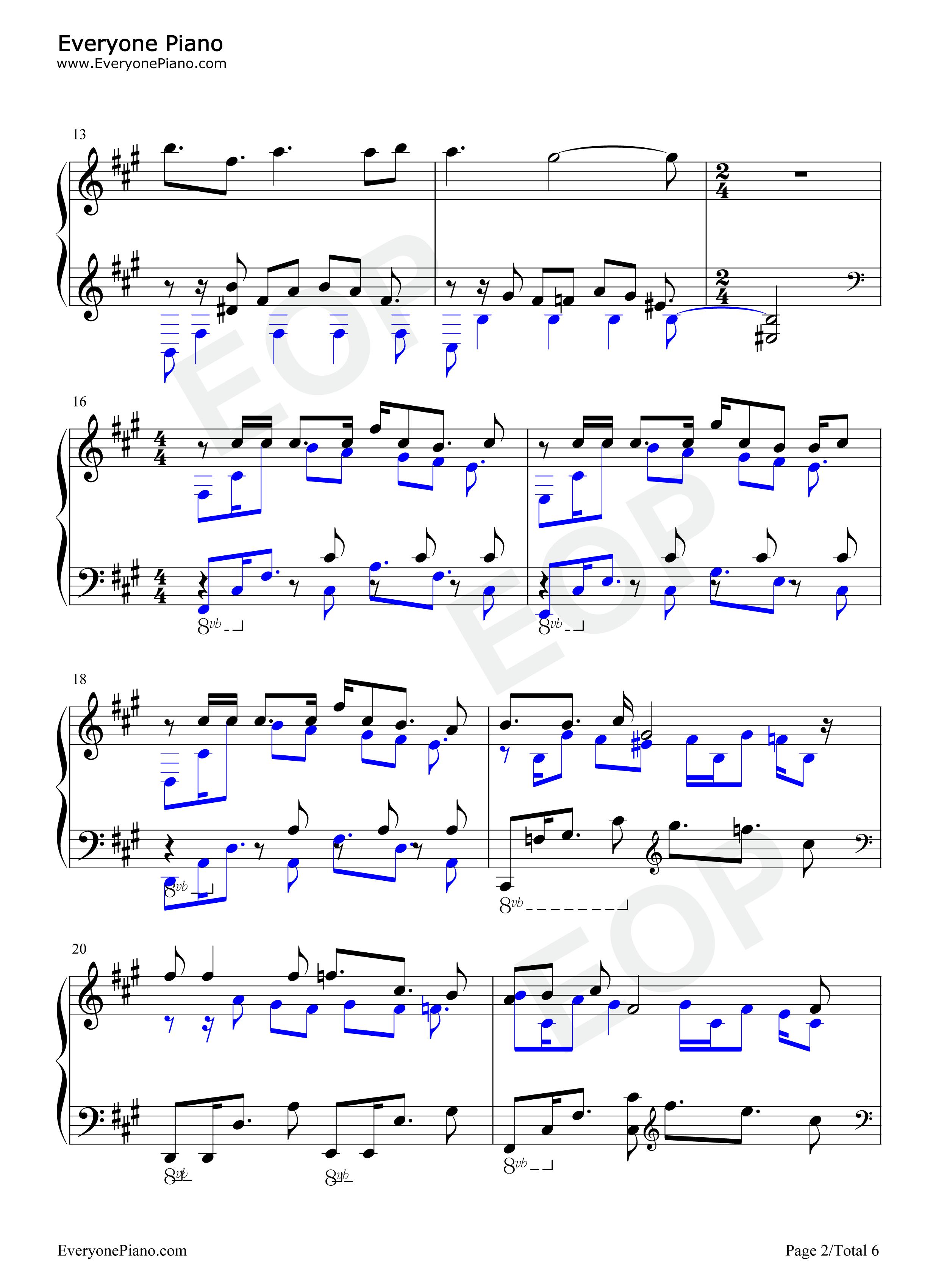 Rakuen no Tobira-Euphoria OP Free Piano Sheet Music & Piano