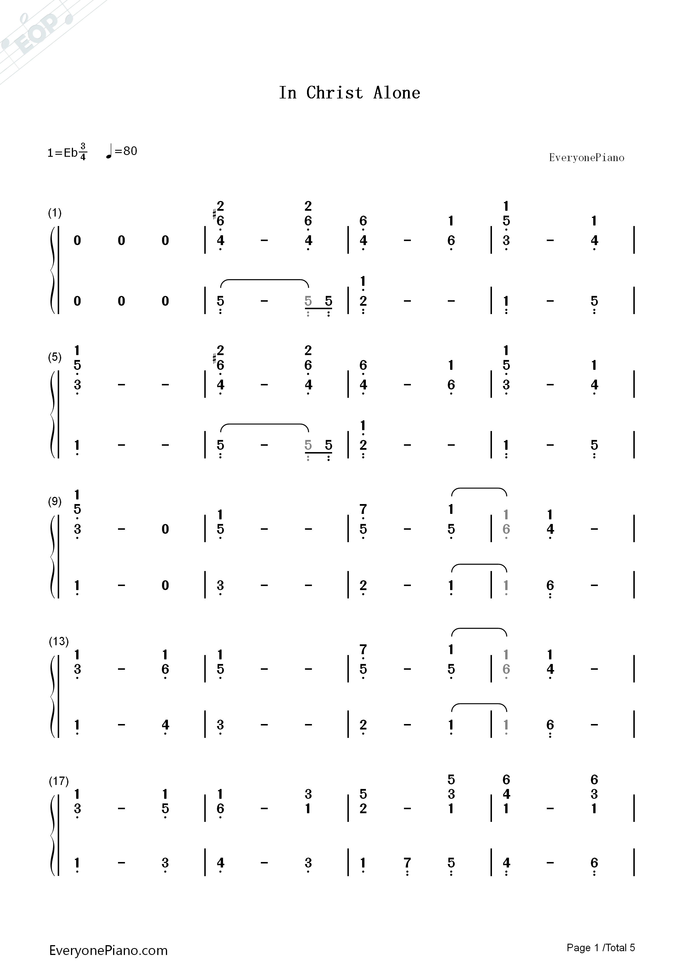 In christ alone owl city numbered musical notation preview 1 free listen now print sheet in christ alone owl city numbered musical notation preview 1 hexwebz Images