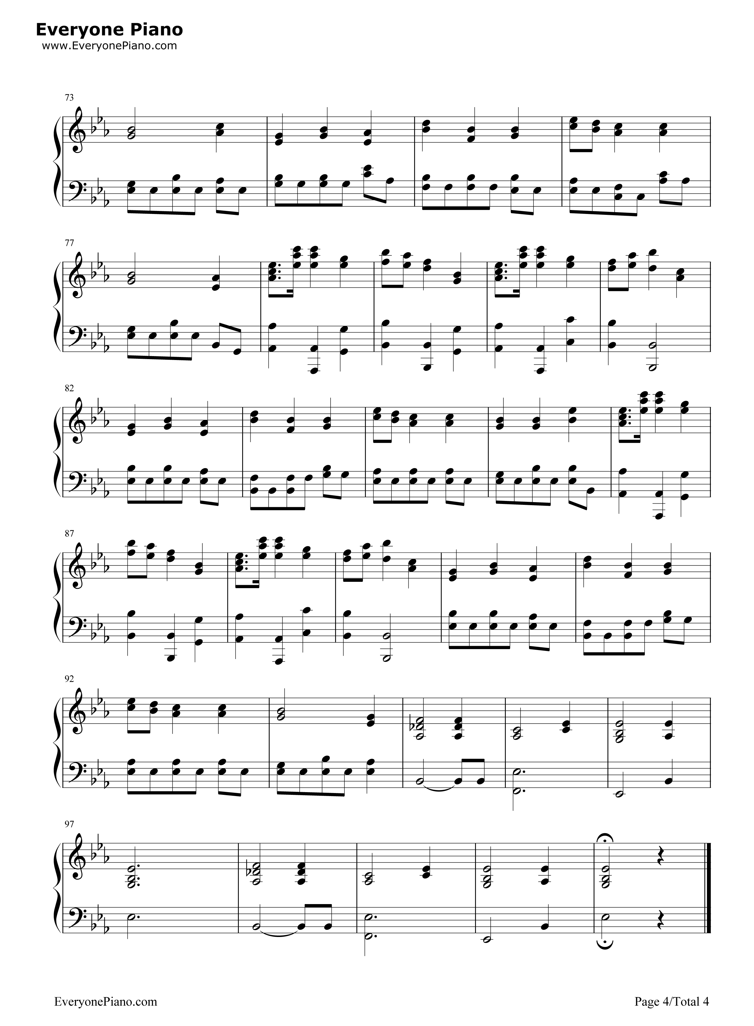 In christ alone owl city stave preview 4 free piano sheet music listen now print sheet in christ alone owl city stave preview 4 hexwebz Images