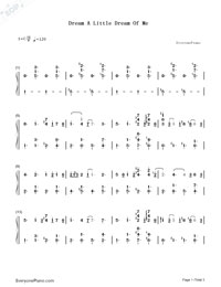 Dream a Little Dream of Me-Yiruma-Numbered-Musical-Notation-Preview-1