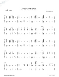 A Whole New World-Aladdin Theme-Numbered-Musical-Notation-Preview-1