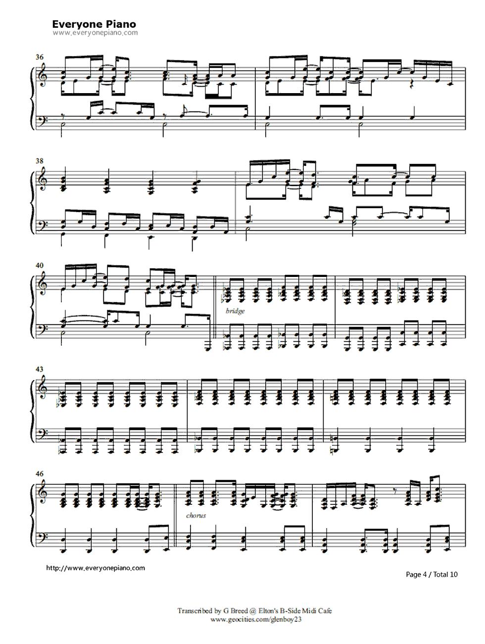 Tiny dancer elton john stave preview 4 free piano sheet music listen now print sheet tiny dancer elton john stave preview 4 hexwebz Images