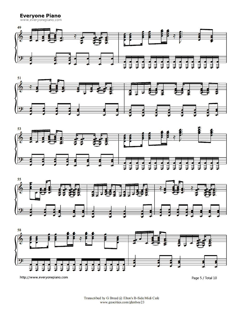 Tiny dancer elton john stave preview 5 free piano sheet music listen now print sheet tiny dancer elton john stave preview 5 hexwebz Images