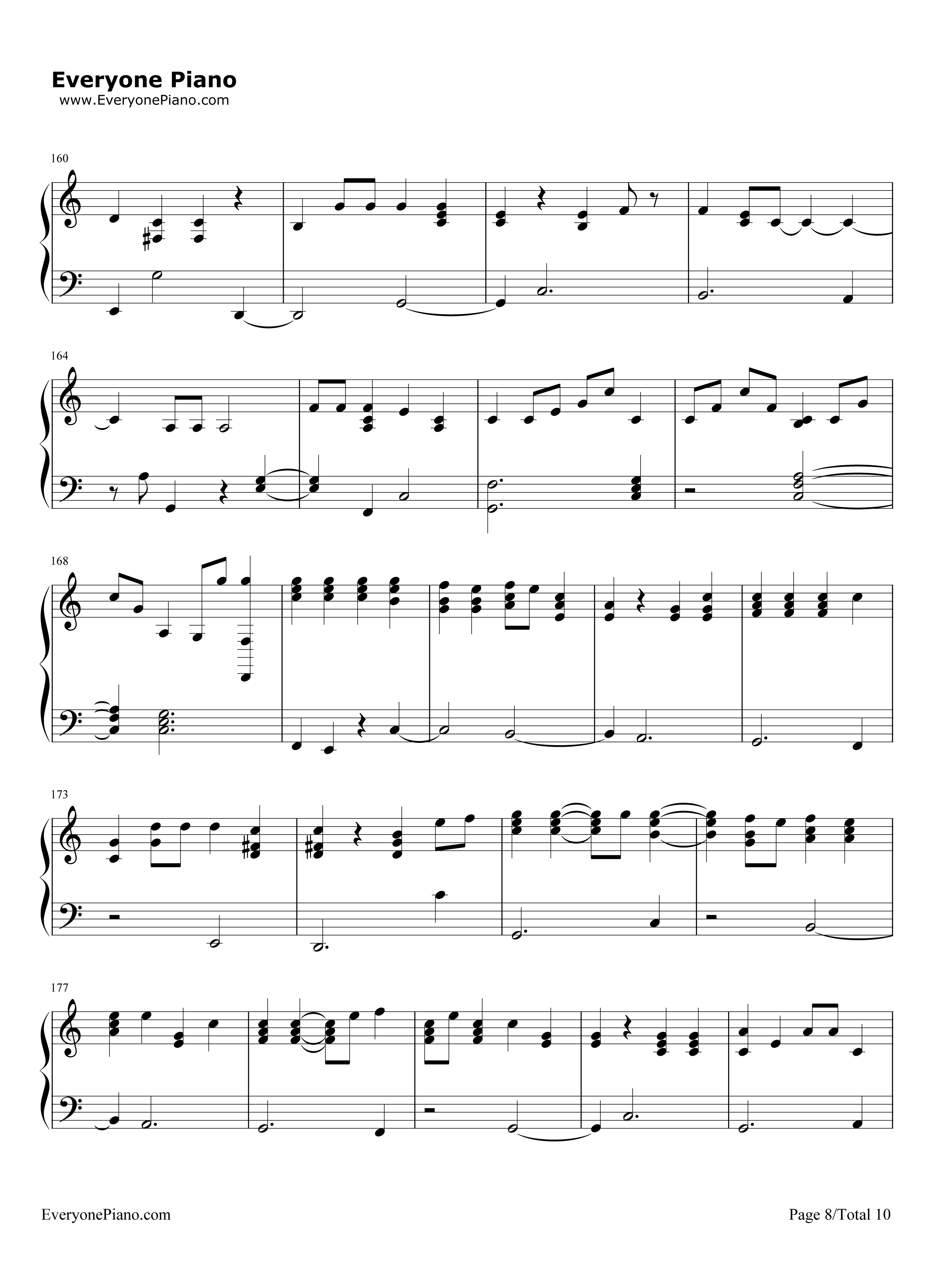 piano man billy joel stave preview 8 free piano sheet music piano chords. Black Bedroom Furniture Sets. Home Design Ideas