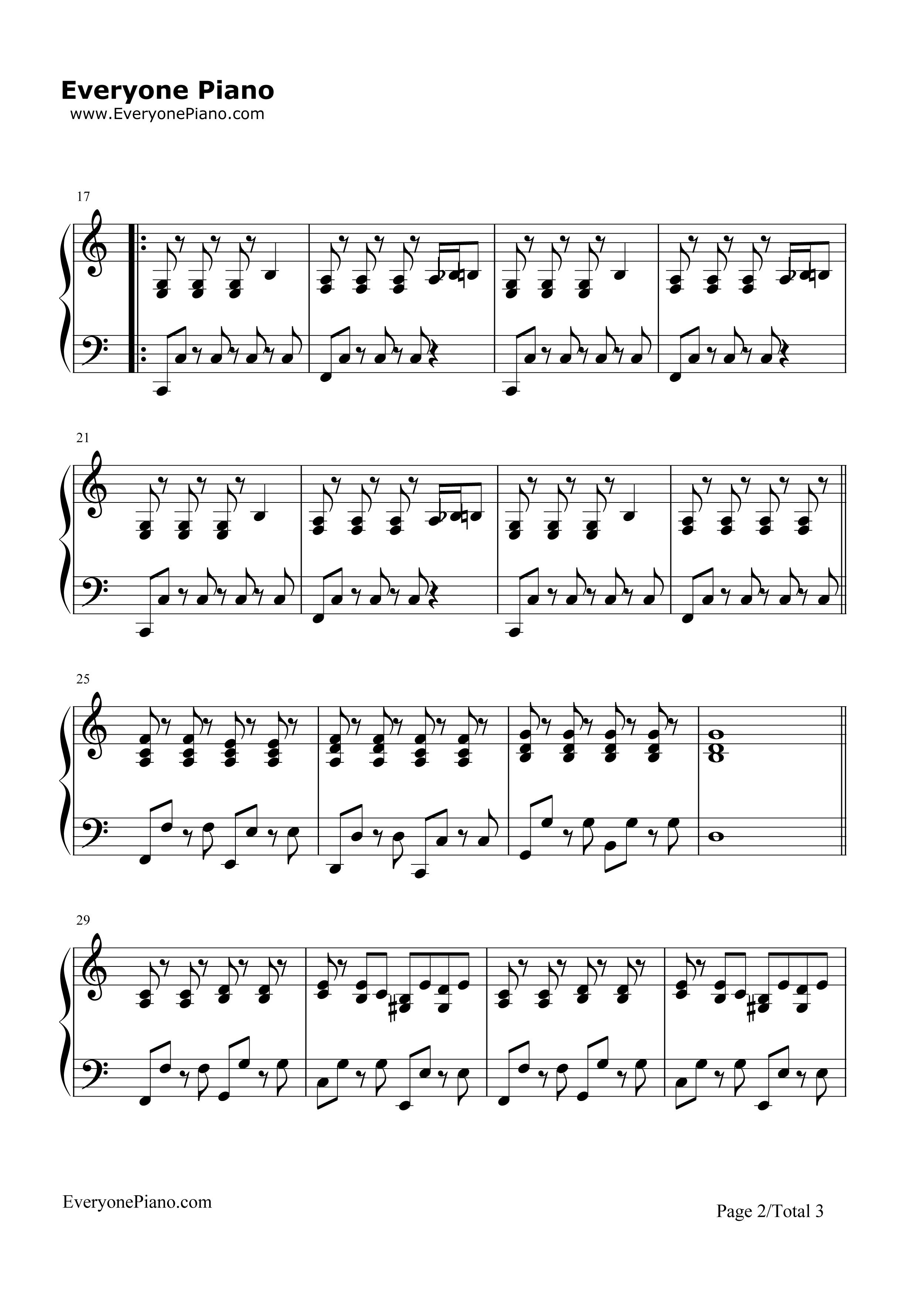Imagine-John Lennon Stave Preview 2-Free Piano Sheet Music u0026 Piano Chords