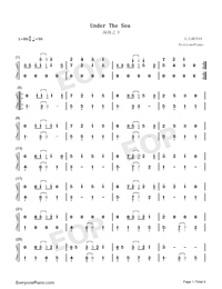 Under the Sea-The Little Mermaid Theme-Numbered-Musical-Notation-Preview-1