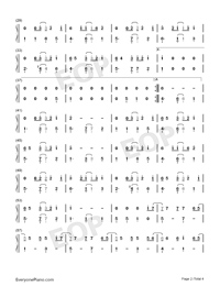 Under the Sea-The Little Mermaid Theme-Numbered-Musical-Notation-Preview-2