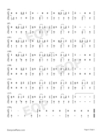 Under the Sea-The Little Mermaid Theme-Numbered-Musical-Notation-Preview-4