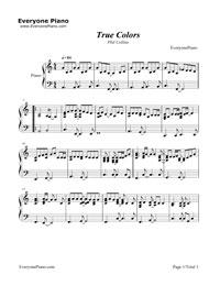 Music colors true sheet pdf
