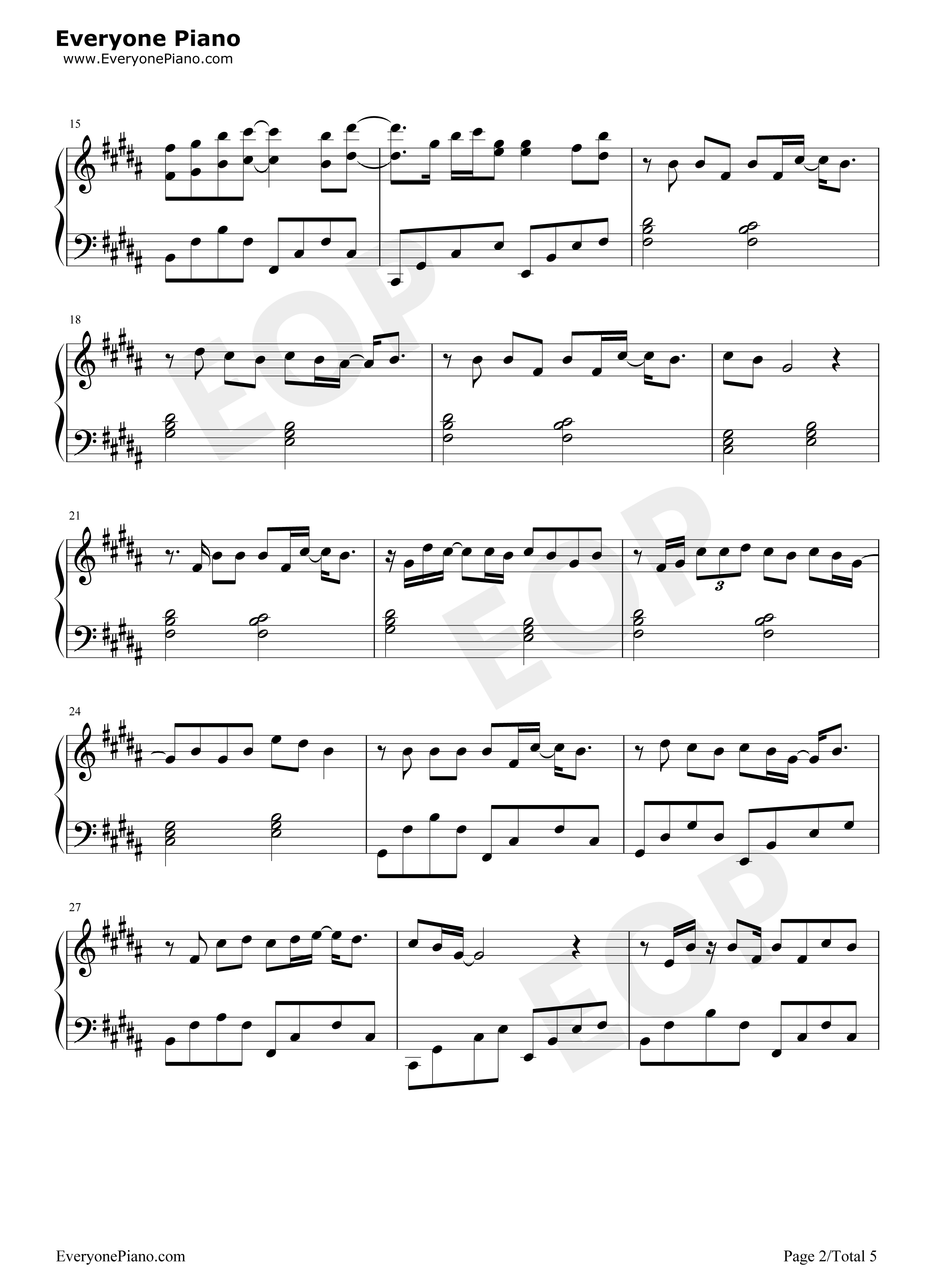 Vanilla Twilight-Owl City Stave Preview 2-Free Piano Sheet Music u0026 Piano Chords
