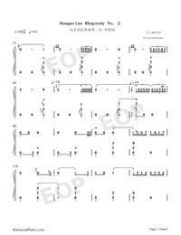 Hungarian Rhapsody No. 2-Franz Liszt-Numbered-Musical-Notation-Preview-1