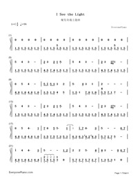 I See the Light-Tangled Theme-Numbered-Musical-Notation-Preview-1