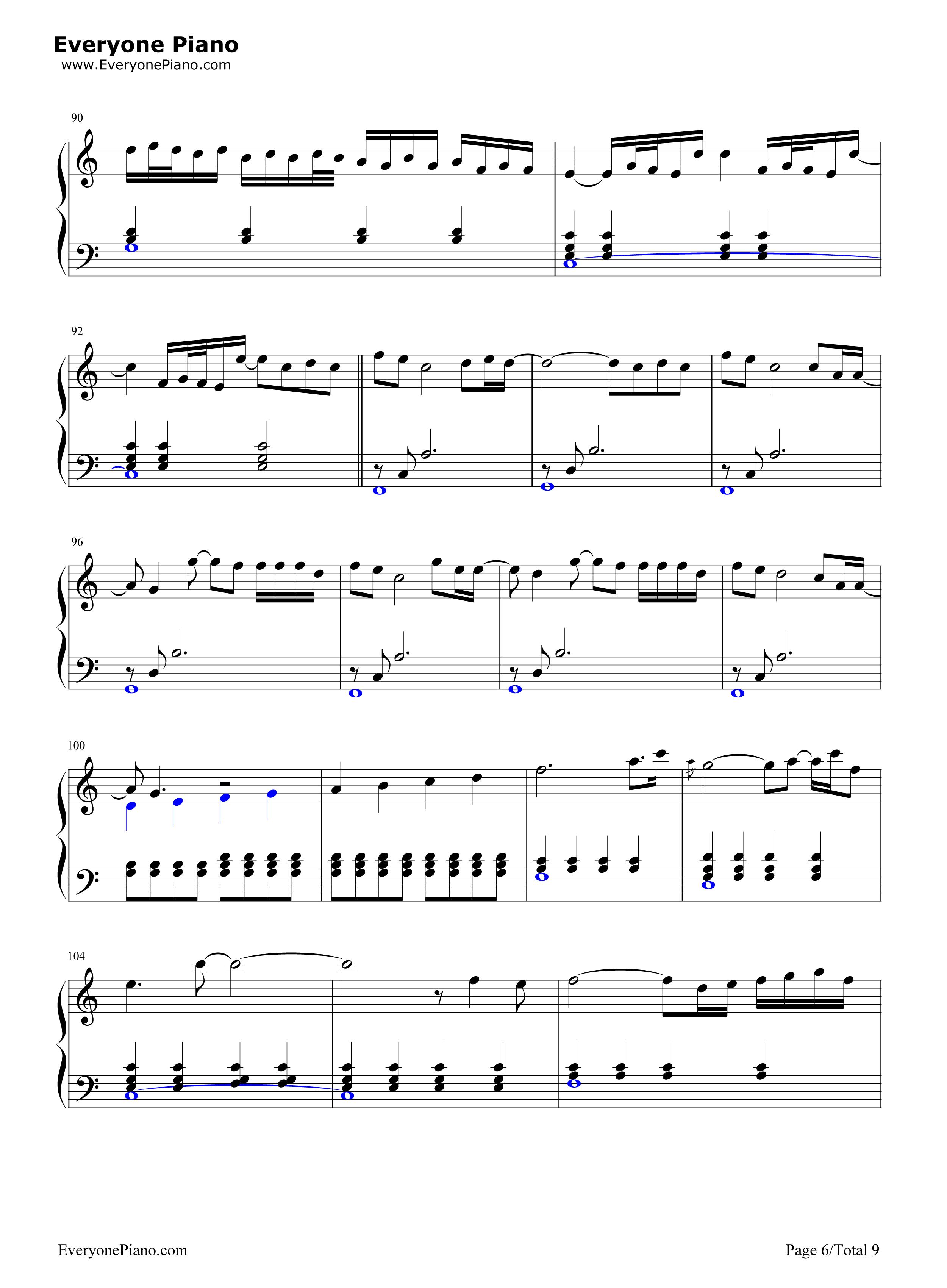 November Rain-Guns Nu0026#39; Roses Stave Preview 6-Free Piano Sheet Music u0026 Piano Chords