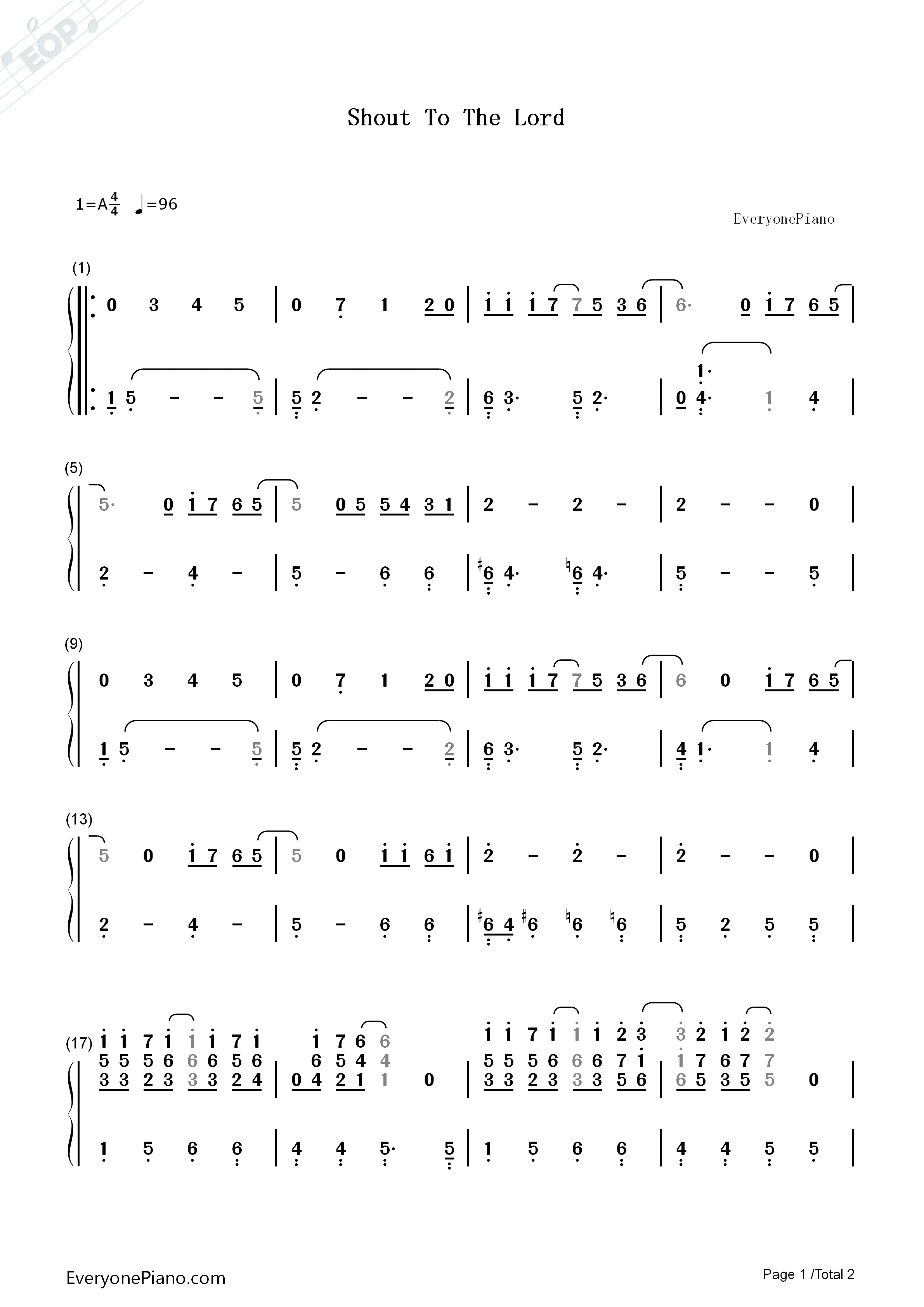 Shout to the lord hillsong numbered musical notation preview 1 listen now print sheet shout to the lord hillsong numbered musical notation preview 1 hexwebz Gallery