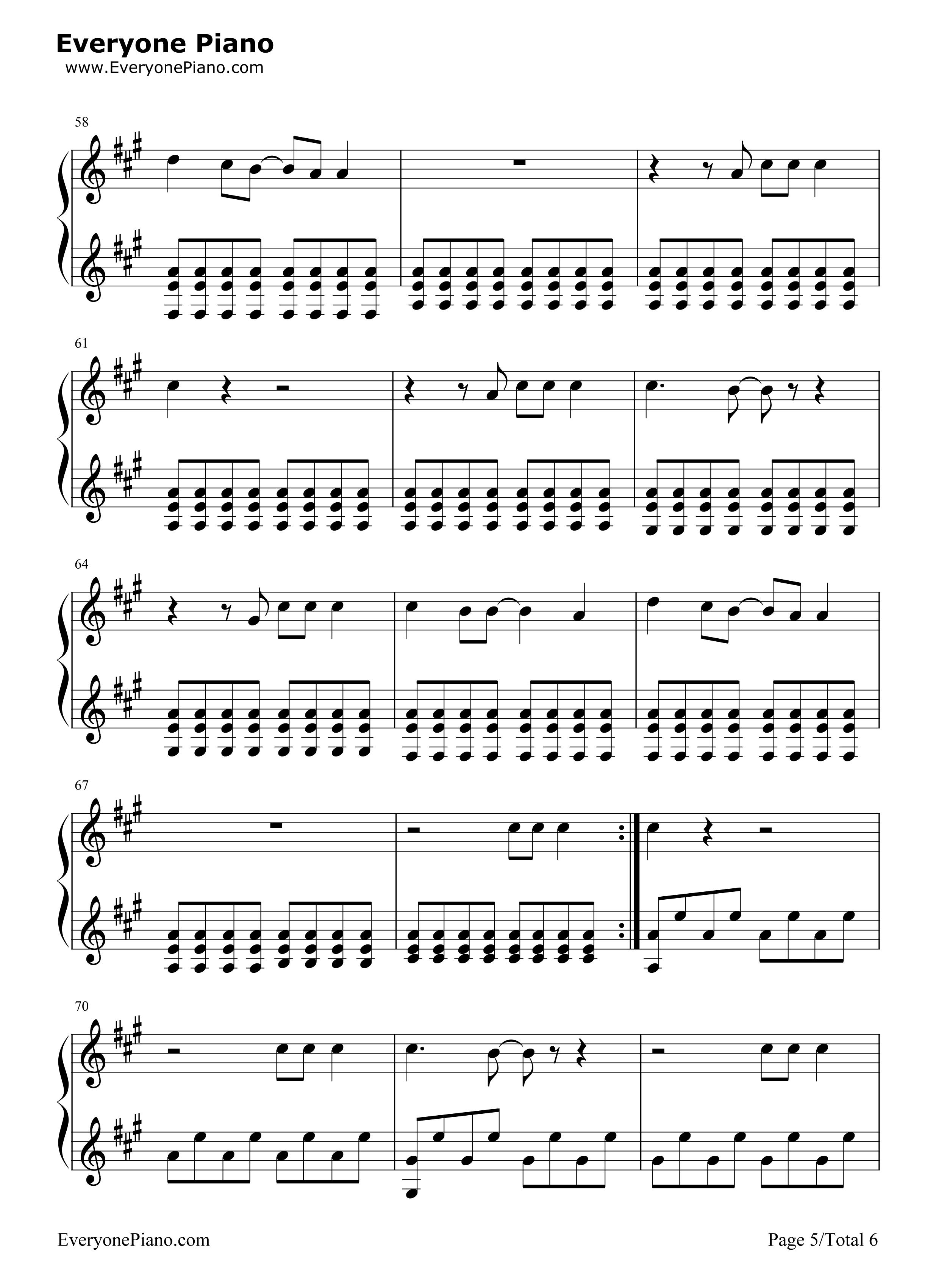 chasing cars chords piano