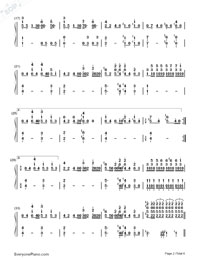 Bohemian Rhapsody-Queen Numbered Musical Notation Preview 2