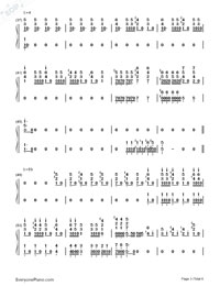 Bohemian Rhapsody-Queen-Numbered-Musical-Notation-Preview-3