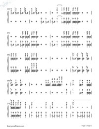 Bohemian Rhapsody-Queen-Numbered-Musical-Notation-Preview-4