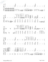 Bohemian Rhapsody-Queen Numbered Musical Notation Preview 5
