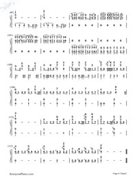 Bohemian Rhapsody-Queen Numbered Musical Notation Preview 6