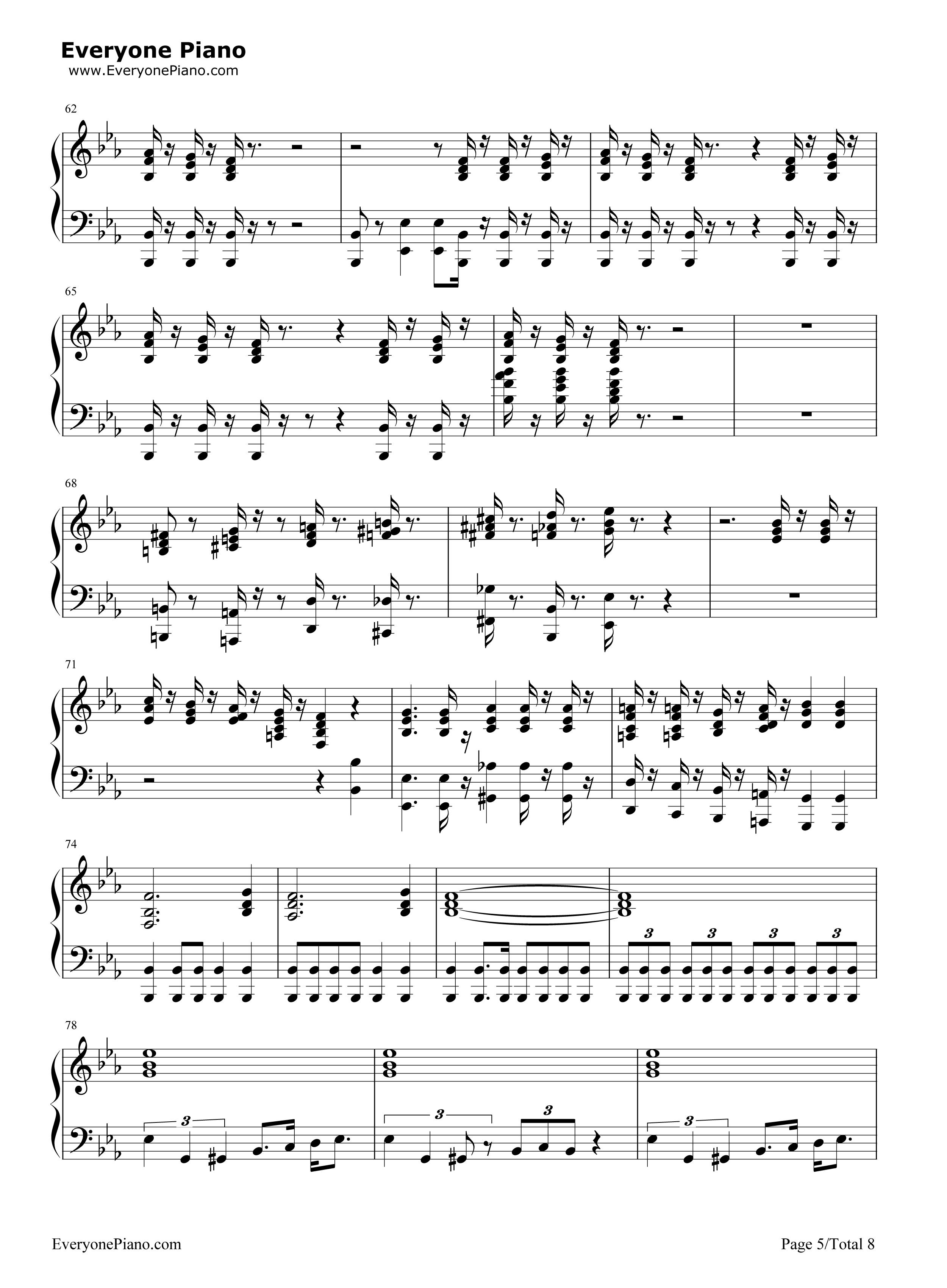 Bohemian Rhapsody-Queen Stave Preview 5-Free Piano Sheet Music u0026 Piano Chords