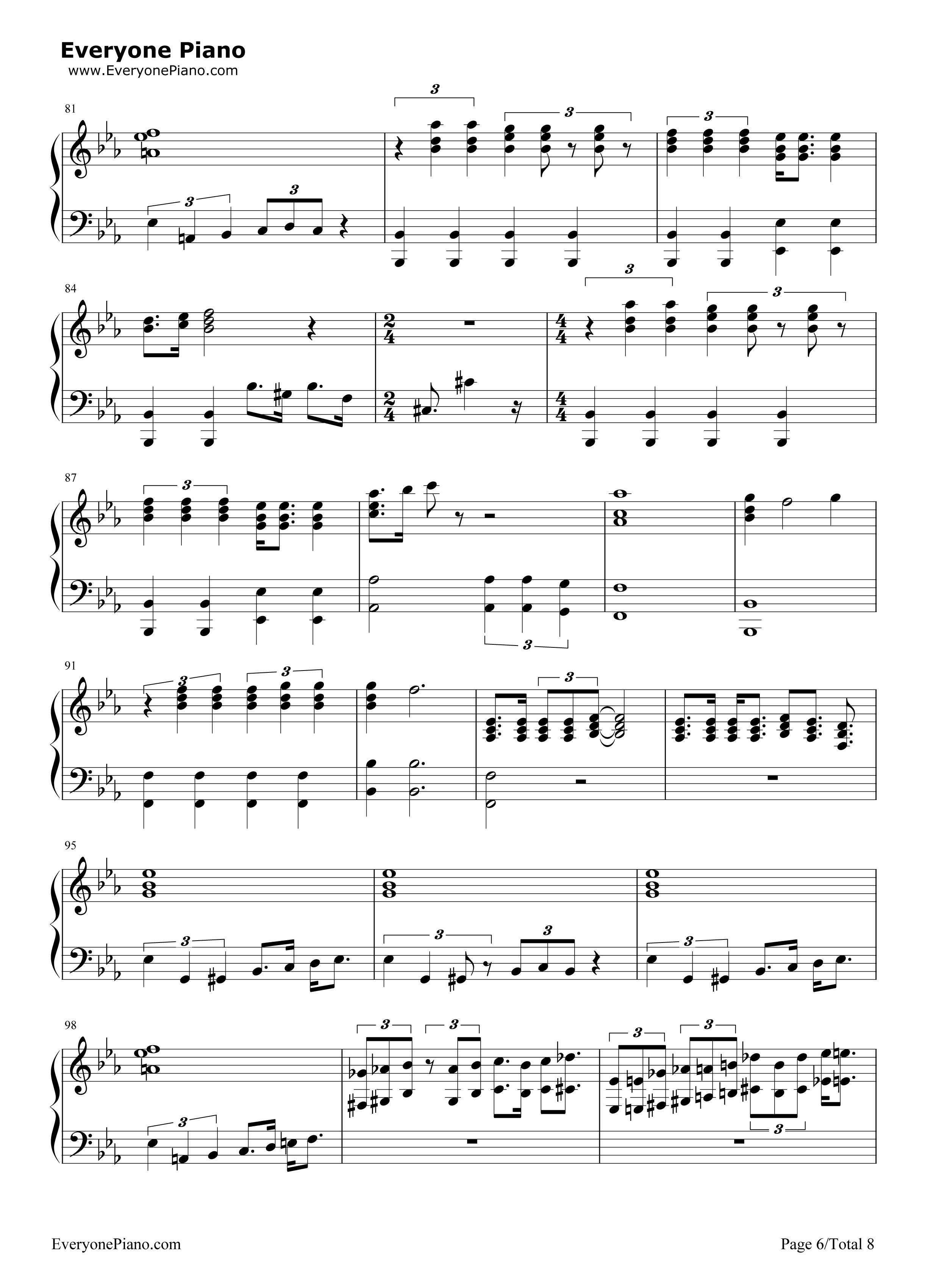 Bohemian Rhapsody-Queen Stave Preview 6-Free Piano Sheet Music u0026 Piano Chords