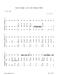 Sorry Seems to Be the Hardest Word-Elton John-Numbered-Musical-Notation-Preview-1